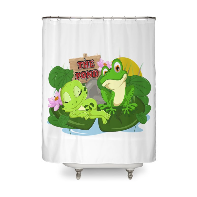 The Pond Official Logo by Kells Home Shower Curtain by Kerminator Official Merchandise