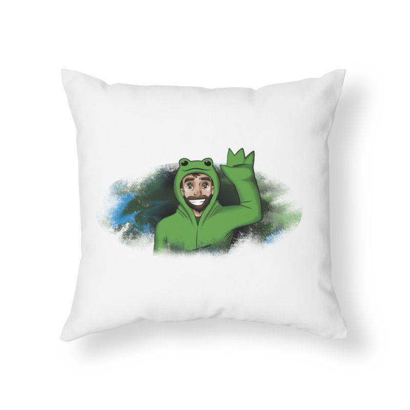 Kerminator Official Logo by Bee Home Throw Pillow by Kerminator Official Merchandise