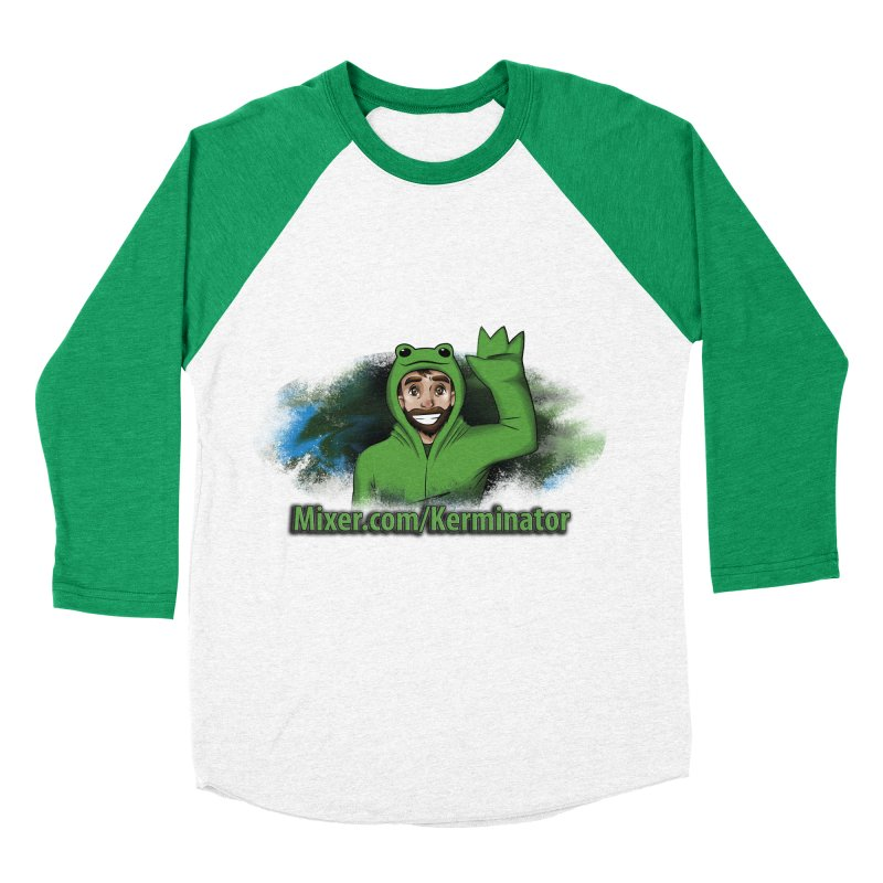 Kerminator Official Logo by Bee Men's Baseball Triblend T-Shirt by Kerminator Official Merchandise