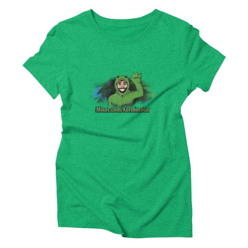 Kerminator Official Logo by Bee Women's Triblend T-shirt by Kerminator Official Merchandise