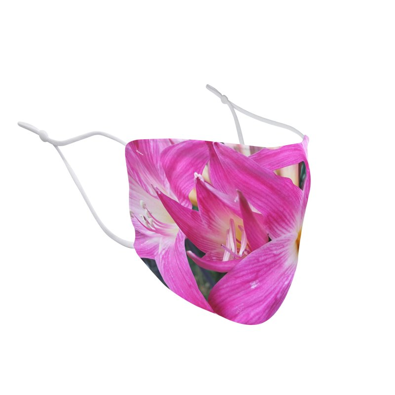 Flower Mask Photographic Series - Pink Flower Accessories Face Mask by KhoCreations' Artist Shop