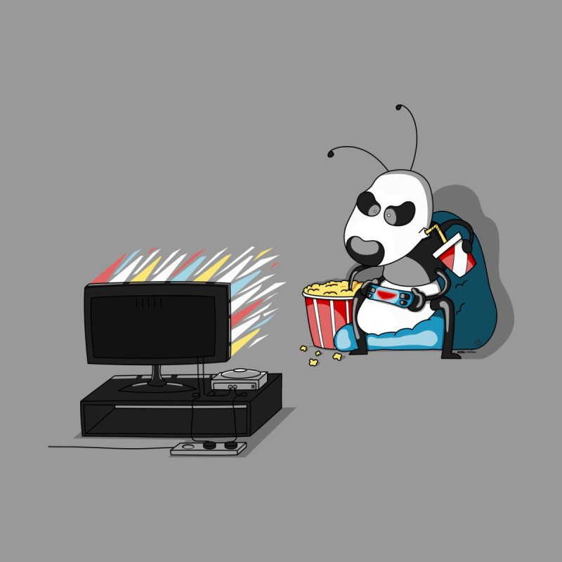 Panda Ant Multitasking like a Pro Gamer! Accessories Sticker by KhoCreations' Artist Shop