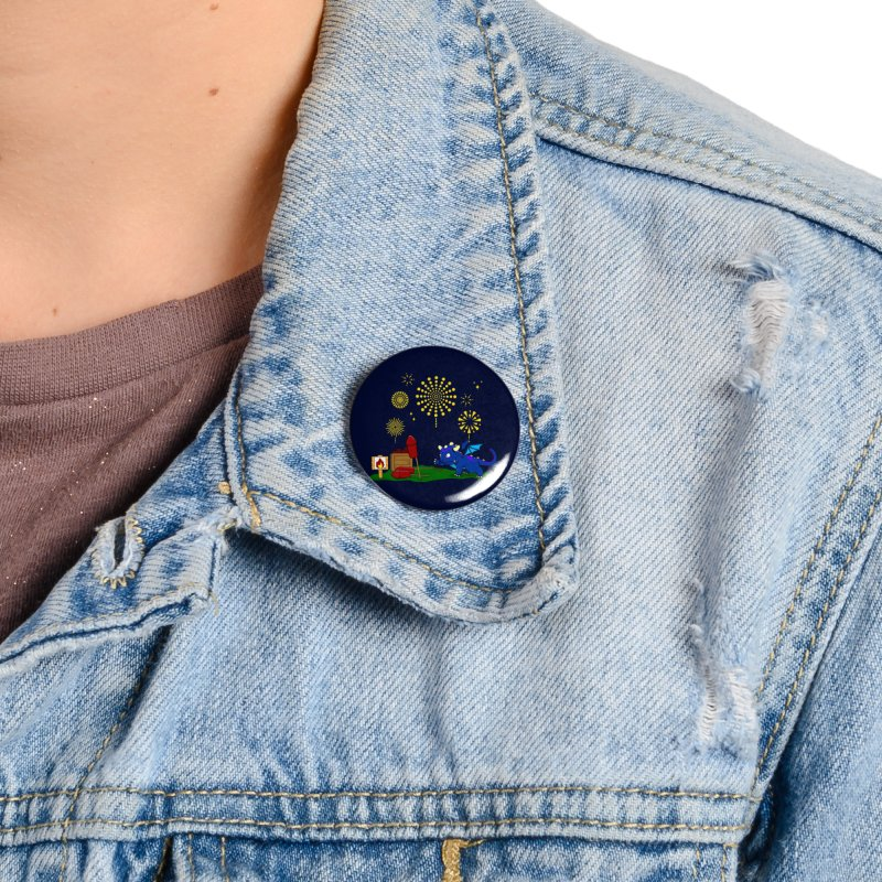 Delizia the Dragon - Fireworks Accessories Button by KhoCreations' Artist Shop
