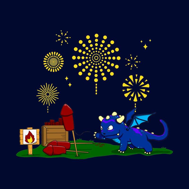 Delizia the Dragon - Fireworks Kids T-Shirt by KhoCreations' Artist Shop