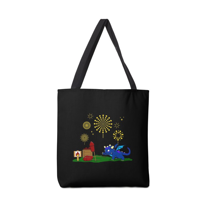 Delizia the Dragon - Fireworks Accessories Bag by KhoCreations' Artist Shop