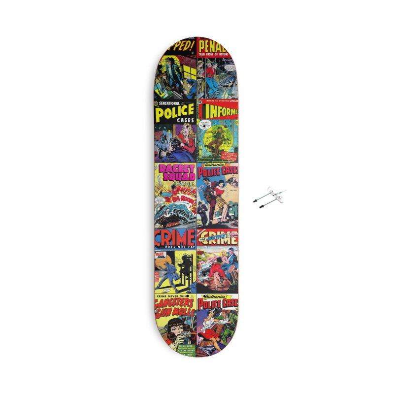 Crime Comic Book Covers Skateboard #001 Accessories Skateboard by KidLogic Industries