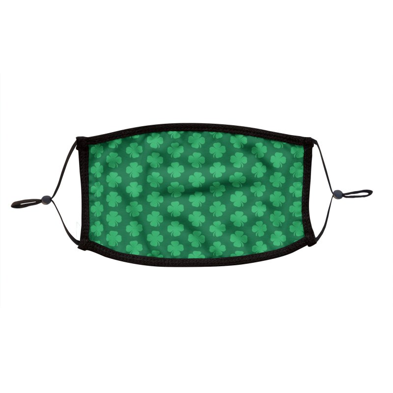 Four Leaf Clover Accessories Face Mask by KidLogic Industries