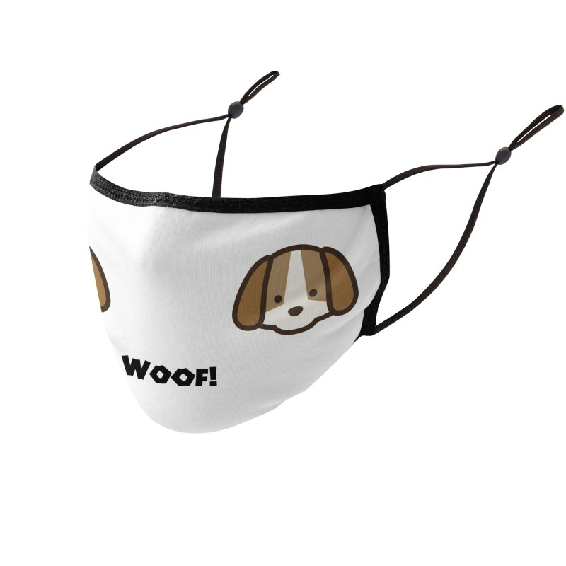 Cute Animal - Dog! Accessories Face Mask by KidLogic Industries