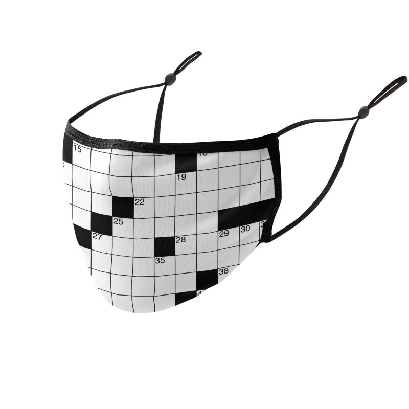 Crossword Puzzle #1 Accessories Face Mask by KidLogic Industries