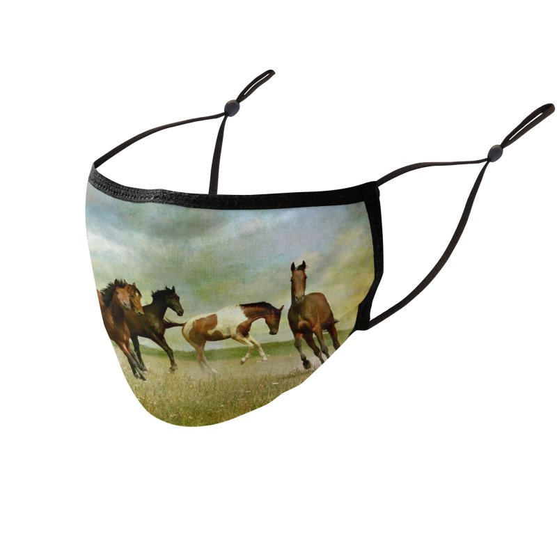 Horse Painting (vintage) Accessories Face Mask by KidLogic Industries