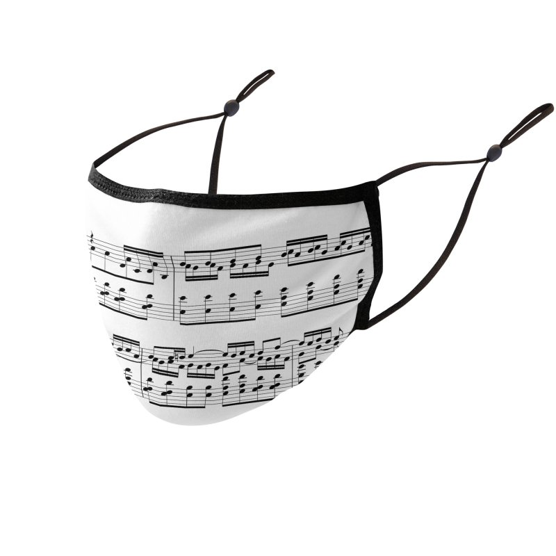 Music - Bach BWV 54 Accessories Face Mask by KidLogic Industries