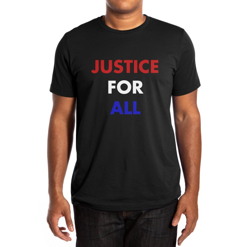 Justice For All (red, white & blue) Men's T-Shirt by KidLogic Industries