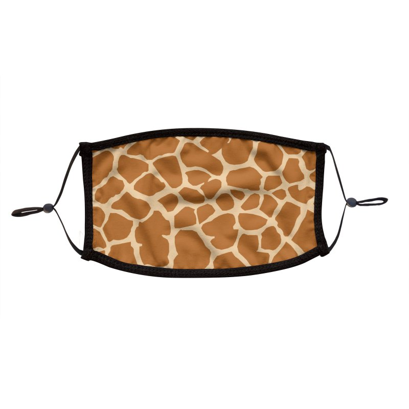 Giraffe pattern Accessories Face Mask by KidLogic Industries