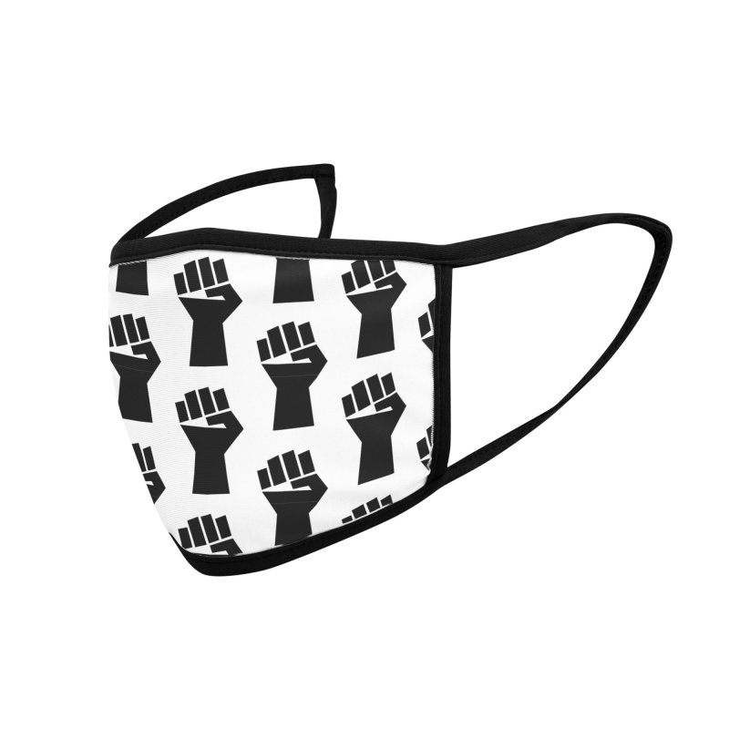 Protest Fist #2 (black) Accessories Face Mask by KidLogic Industries