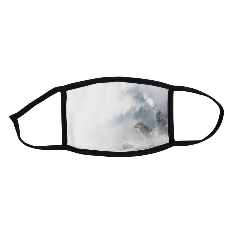 Howling Wolves in the Snow Accessories Face Mask by KidLogic Industries
