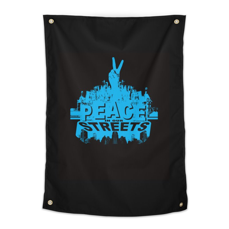 P.I.O.S. (Peace in Our Streets) Home Tapestry by Kid Radical