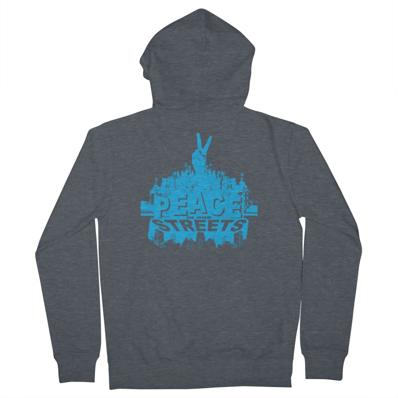 P.I.O.S. (Peace in Our Streets) Men's Zip-Up Hoody by Kid Radical