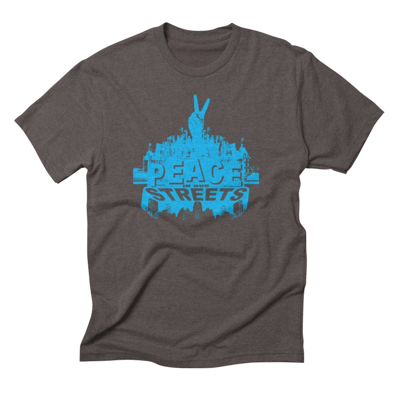P.I.O.S. (Peace in Our Streets) Men's Triblend T-Shirt by Kid Radical