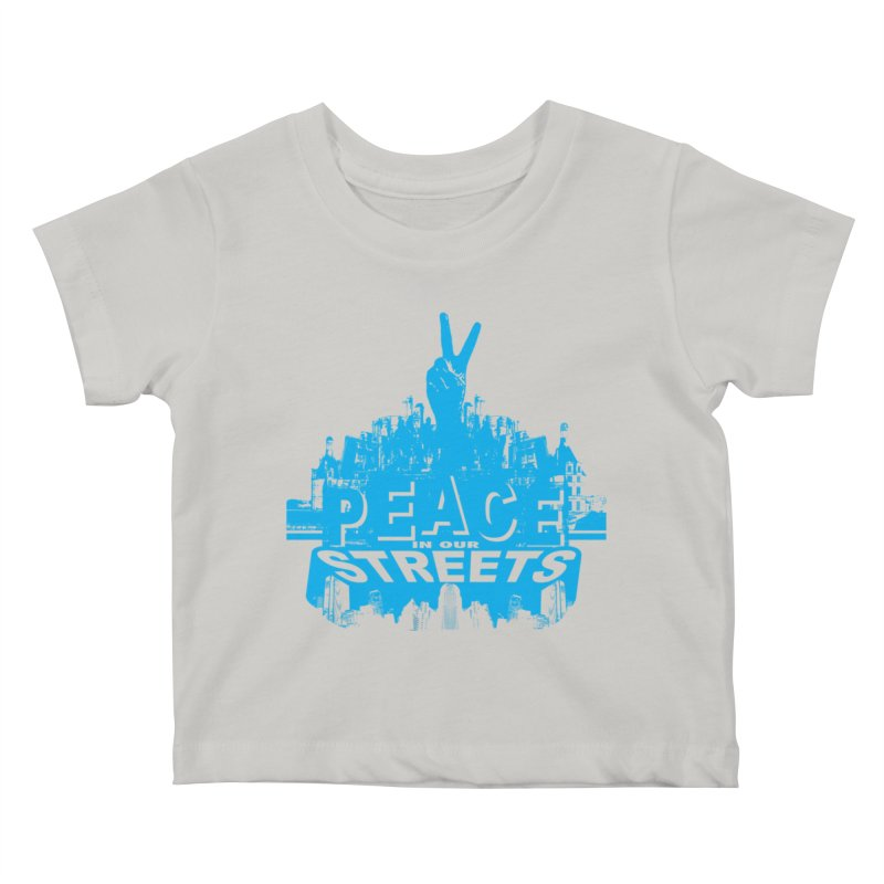 P.I.O.S. (Peace in Our Streets) Kids Baby T-Shirt by Kid Radical