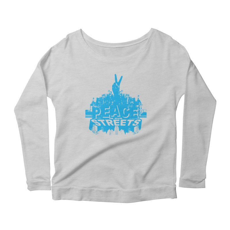 P.I.O.S. (Peace in Our Streets) Women's Longsleeve Scoopneck  by Kid Radical