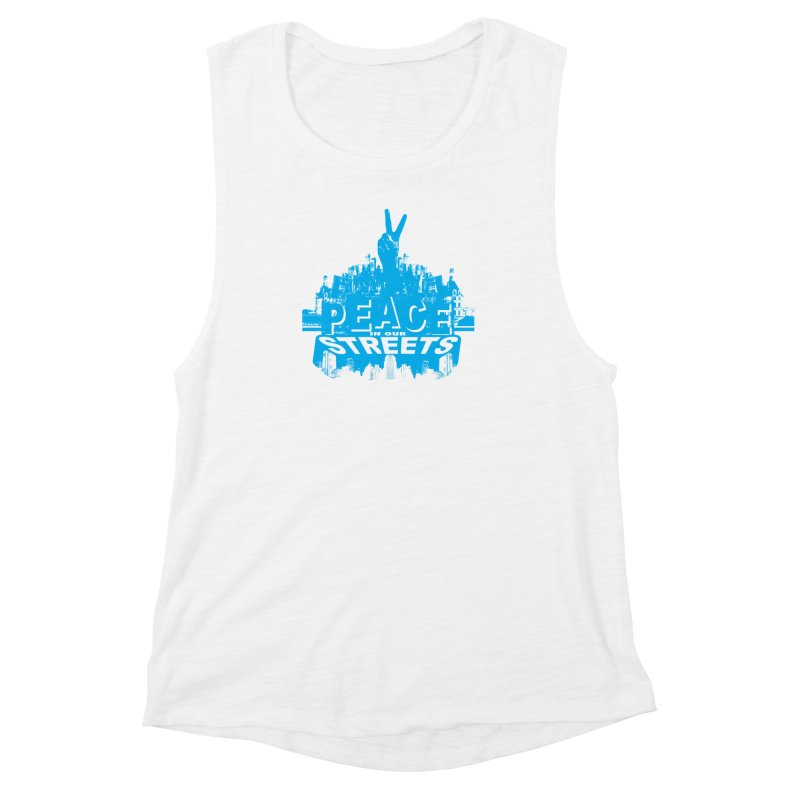 P.I.O.S. (Peace in Our Streets) Women's Muscle Tank by Kid Radical