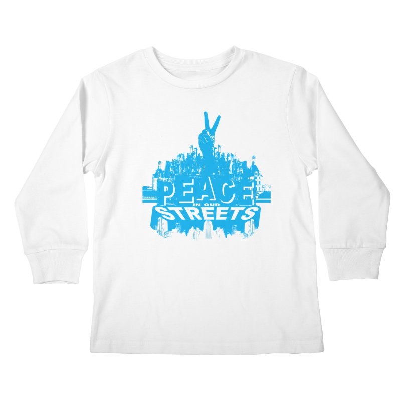 P.I.O.S. (Peace in Our Streets) Kids Longsleeve T-Shirt by Kid Radical