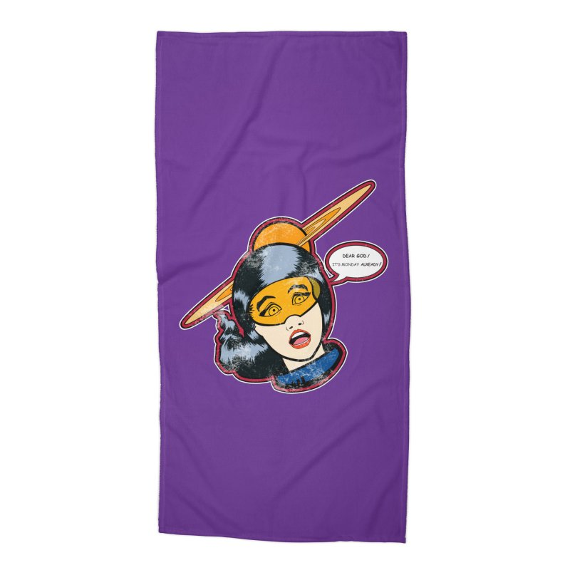 I Hate Mondays Accessories Beach Towel by Kid Radical