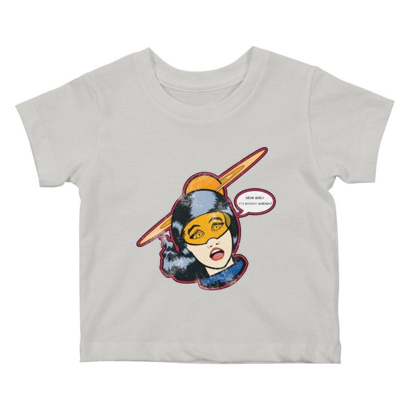 I Hate Mondays Kids Baby T-Shirt by Kid Radical