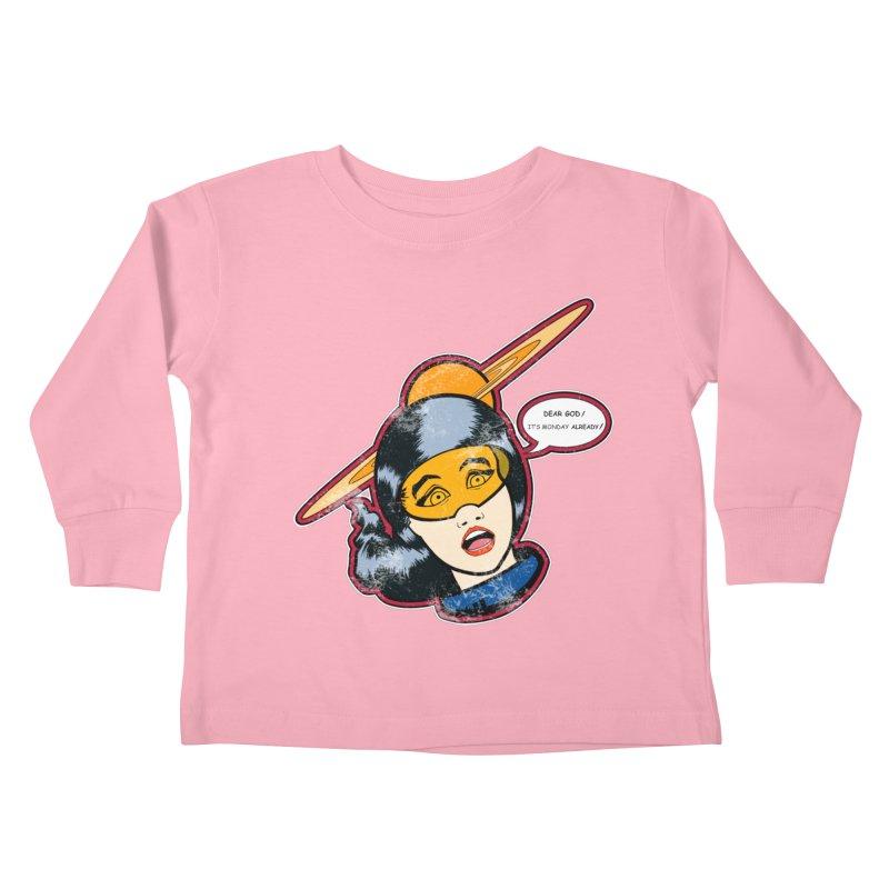 I Hate Mondays Kids Toddler Longsleeve T-Shirt by Kid Radical