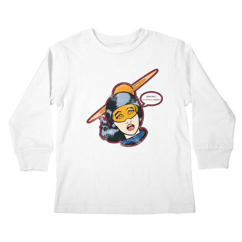 I Hate Mondays Kids Longsleeve T-Shirt by Kid Radical