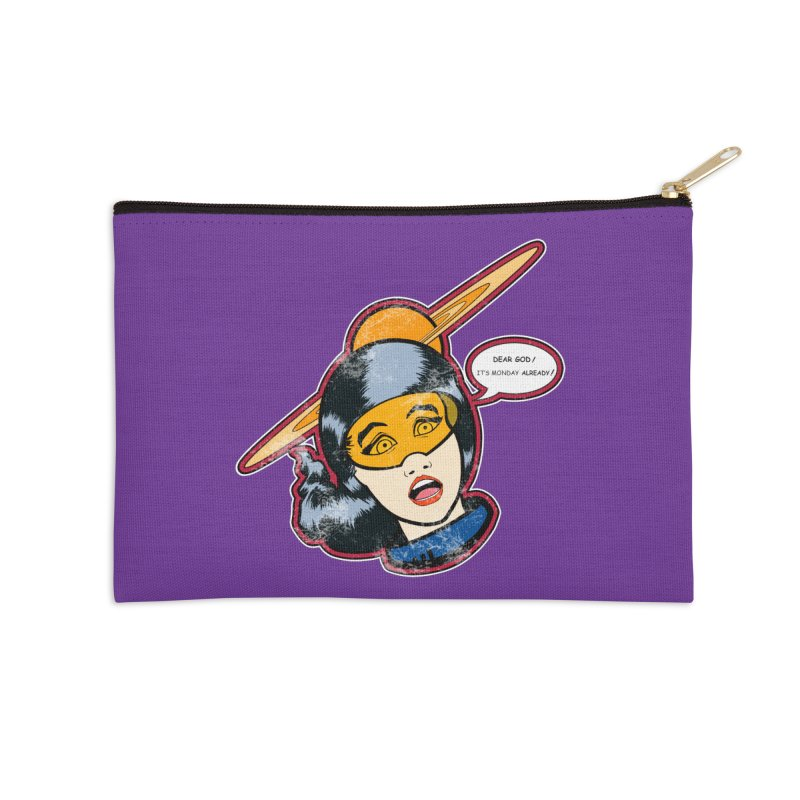 I Hate Mondays Accessories Zip Pouch by Kid Radical