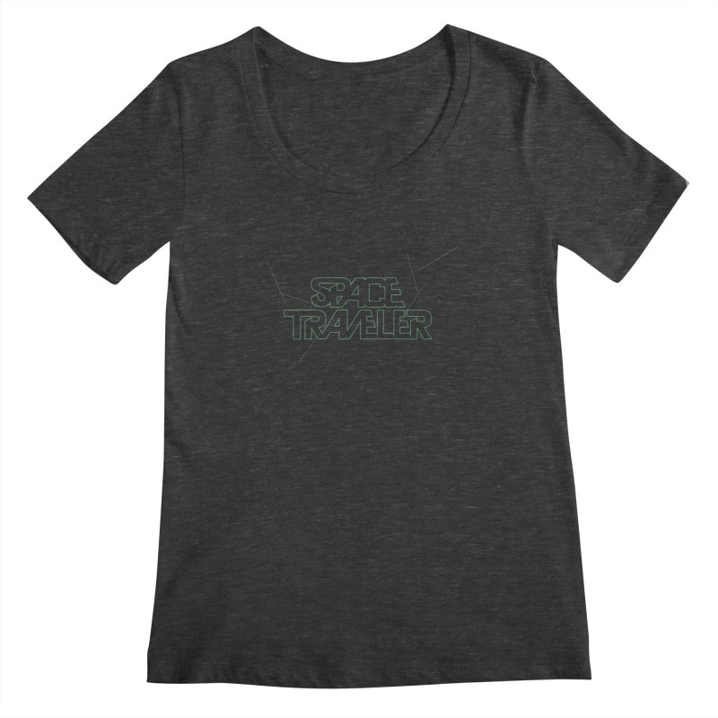 Space Traveler Women's Scoopneck by Kid Radical