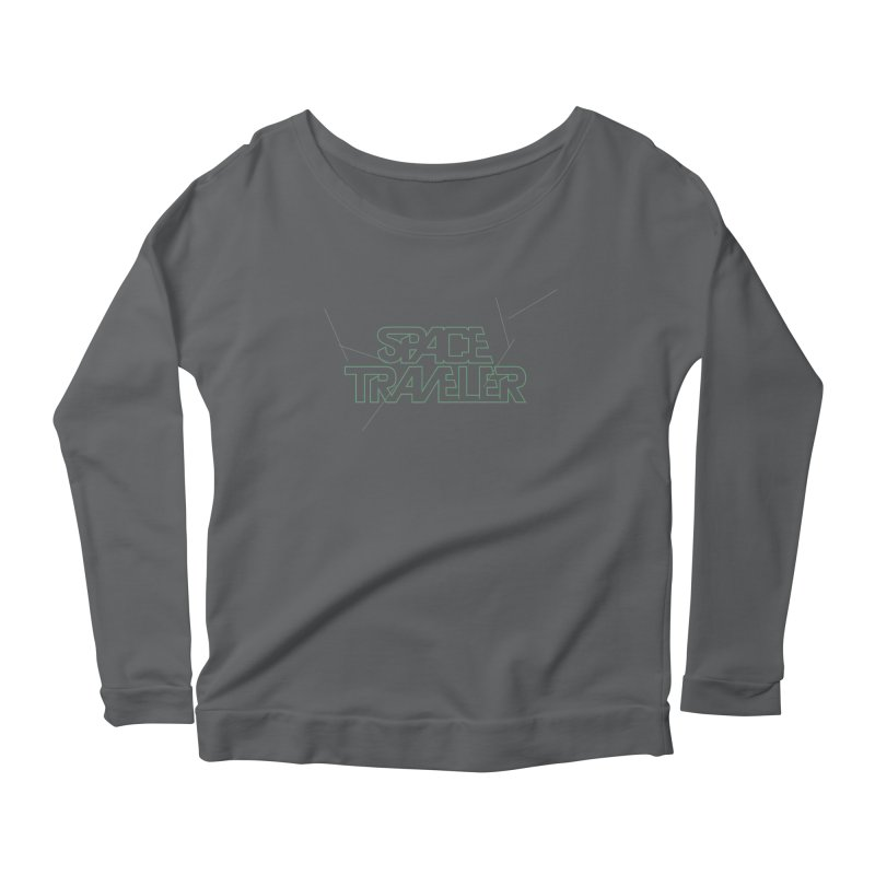 Space Traveler Women's Longsleeve Scoopneck  by Kid Radical