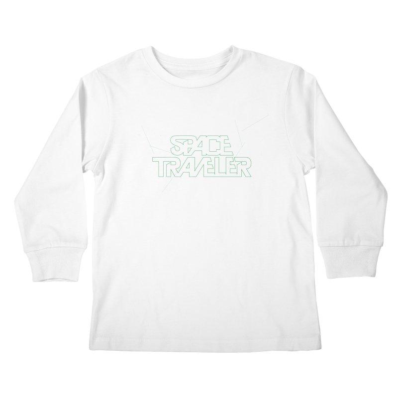 Space Traveler Kids Longsleeve T-Shirt by Kid Radical