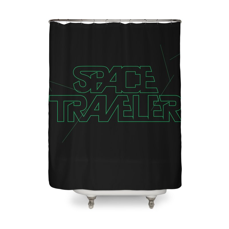 Space Traveler Home Shower Curtain by Kid Radical
