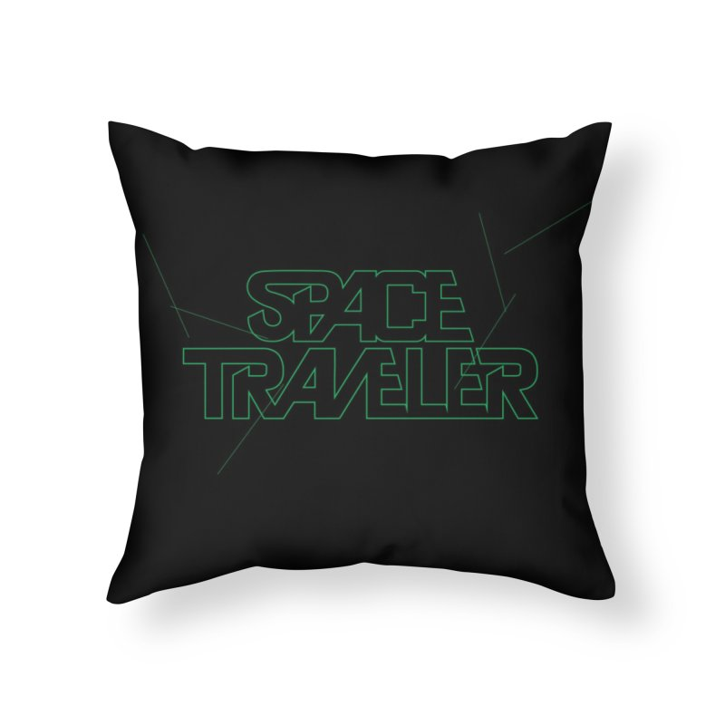 Space Traveler Home Throw Pillow by Kid Radical