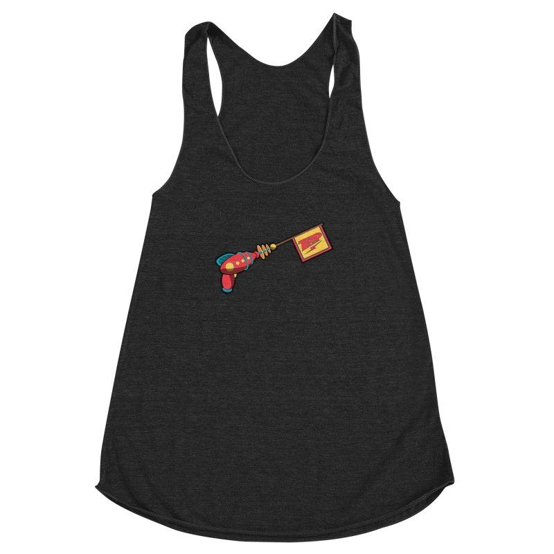 Ray Gun Women's Racerback Triblend Tank by Kid Radical