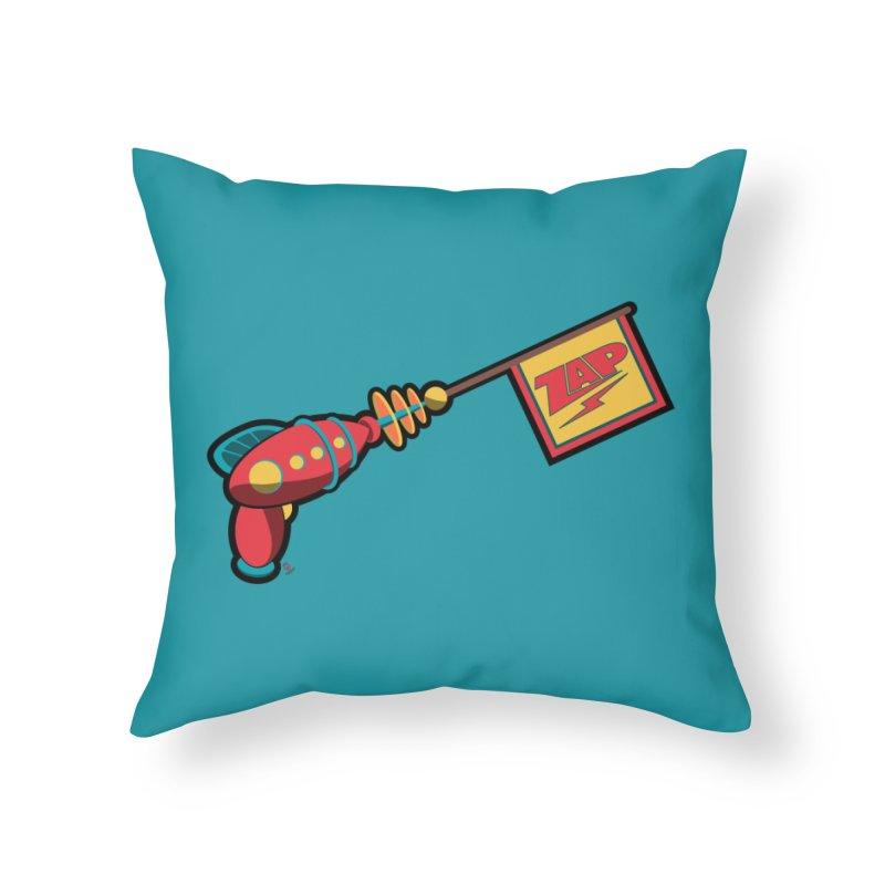 Ray Gun Home Throw Pillow by Kid Radical
