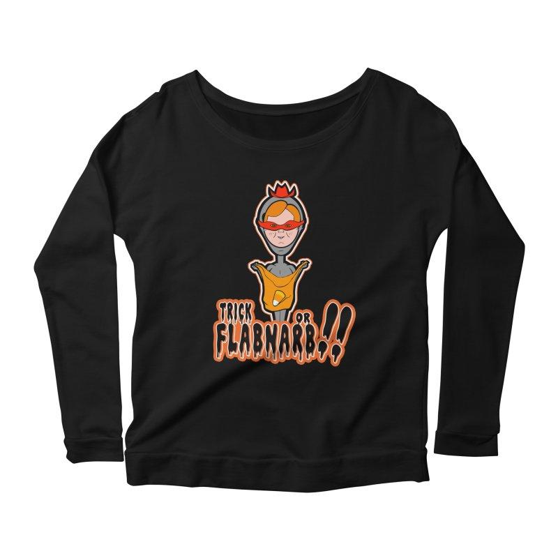 Trick or Flabnarb! (Cowboy) Women's Longsleeve Scoopneck  by Kid Radical