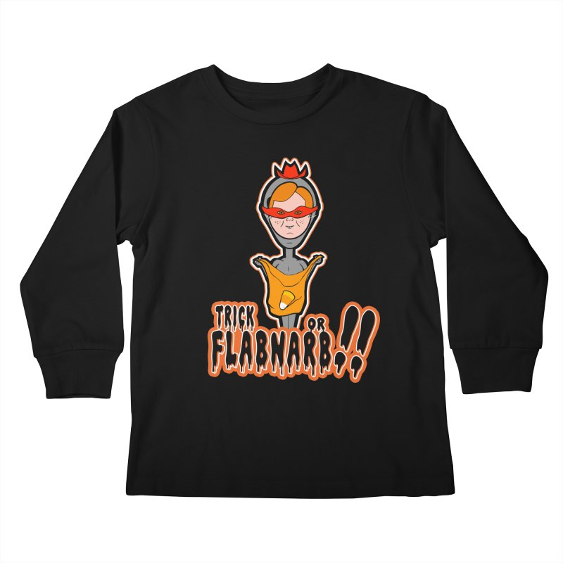 Trick or Flabnarb! (Cowboy) Kids Longsleeve T-Shirt by Kid Radical
