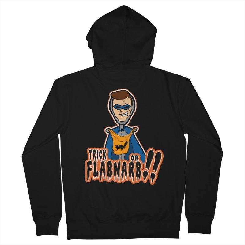Trick or Flabnarb! (Superhero) Men's Zip-Up Hoody by Kid Radical