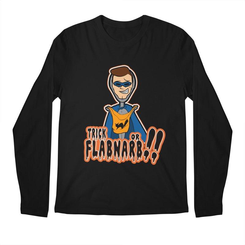 Trick or Flabnarb! (Superhero) Men's Longsleeve T-Shirt by Kid Radical