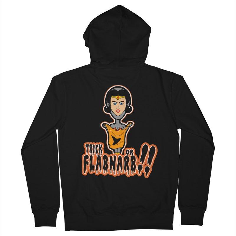 Trick or Flabnarb! (Superhero 2) Men's Zip-Up Hoody by Kid Radical