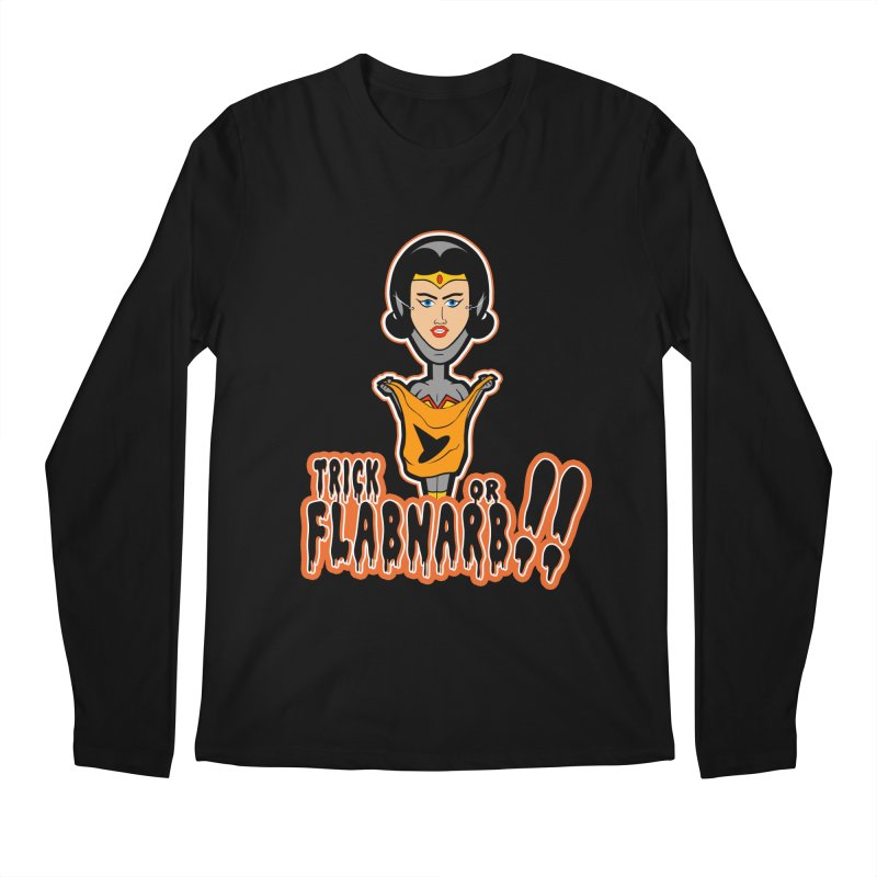 Trick or Flabnarb! (Superhero 2) Men's Longsleeve T-Shirt by Kid Radical