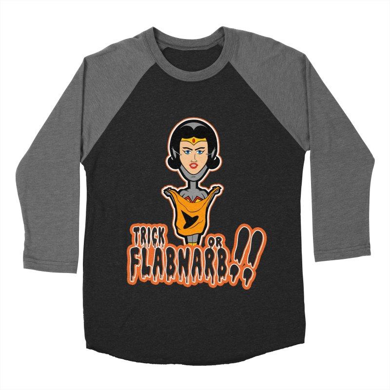 Trick or Flabnarb! (Superhero 2) Women's Baseball Triblend T-Shirt by Kid Radical