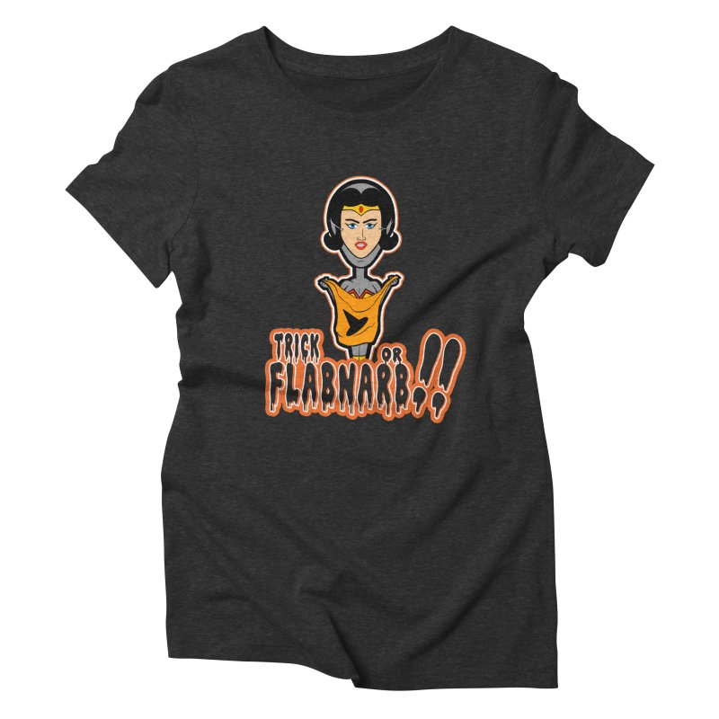 Trick or Flabnarb! (Superhero 2) Women's Triblend T-shirt by Kid Radical