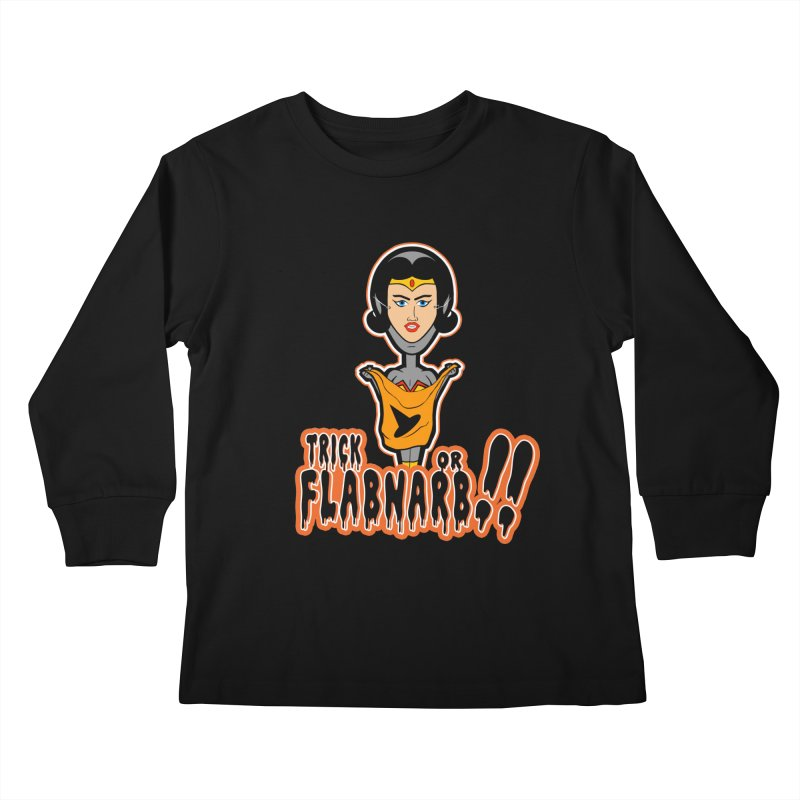 Trick or Flabnarb! (Superhero 2) Kids Longsleeve T-Shirt by Kid Radical