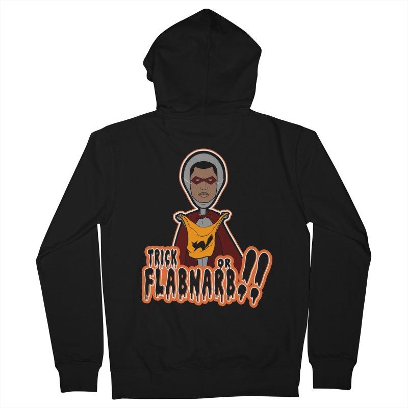 Trick or Flabnarb! (Superhero 3) Men's Zip-Up Hoody by Kid Radical