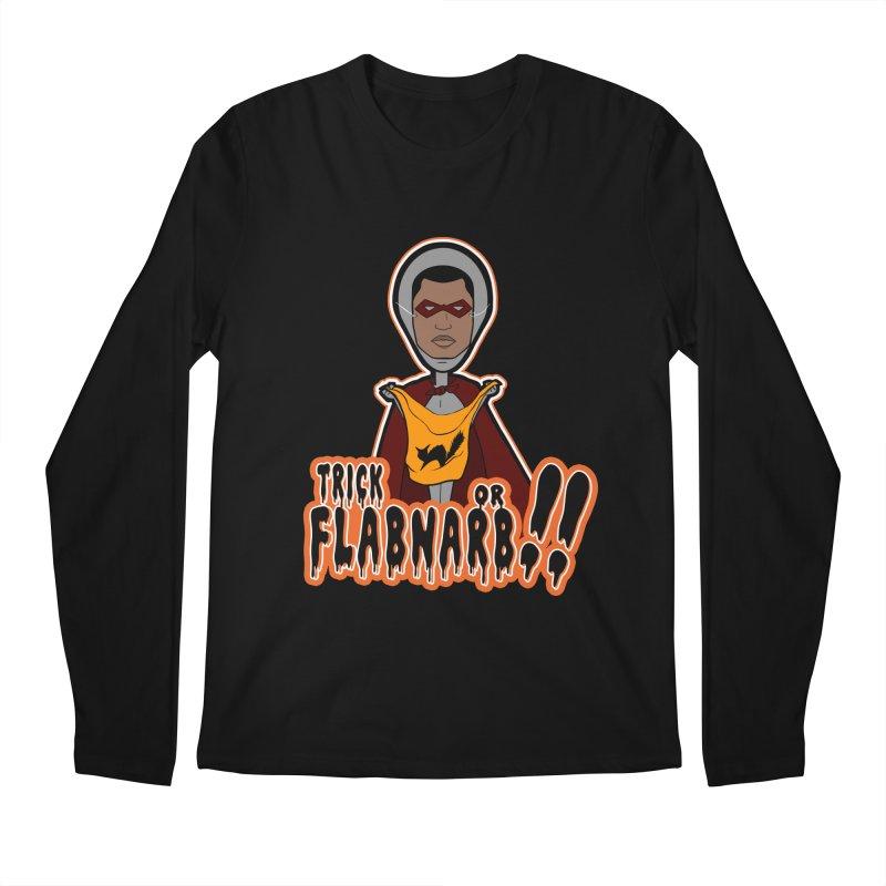 Trick or Flabnarb! (Superhero 3) Men's Longsleeve T-Shirt by Kid Radical