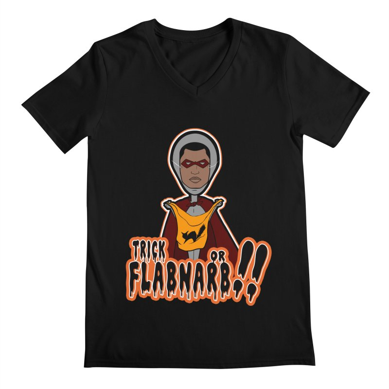 Trick or Flabnarb! (Superhero 3) Men's V-Neck by Kid Radical